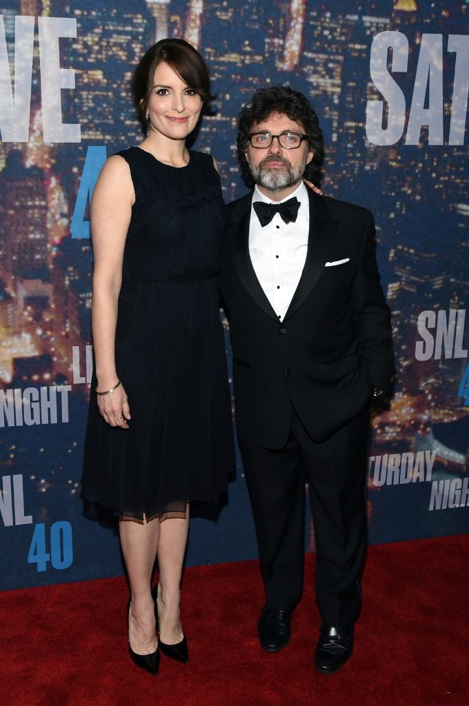 Actress Tina Fey and Jeff Richmond attend the SNL 40th Anniversary Special, Sunday, in New York. Larry Busacca/Getty Images