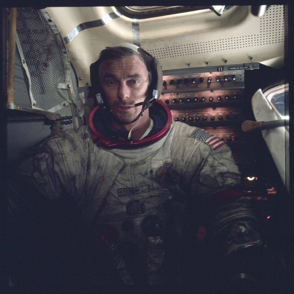 Apollo 17 crew, Commander Eugene Cernan. NASA Photo