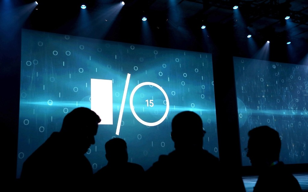 Attendees gather before the start of the opening keynote during the 2015 Google I/O conference, Thursday, in San Francisco. Justin Sullivan/Getty Images
