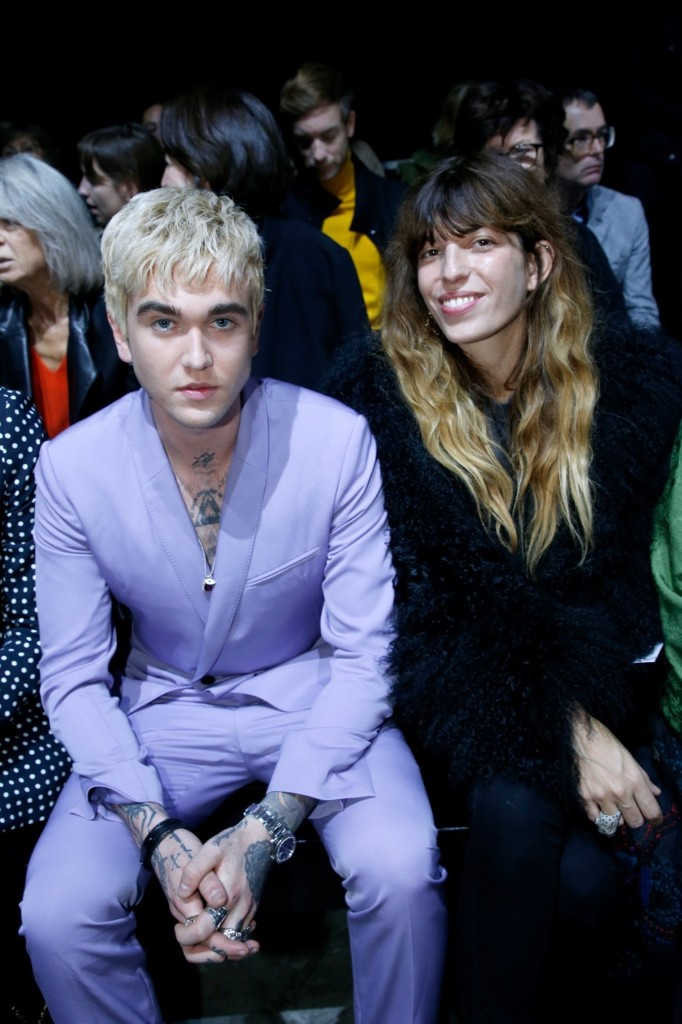 Gabriel-Kane Day-Lewis and Lou Doillon attend the Haider Ackermann show. Bertrand Rindoff Petroff/Getty Images