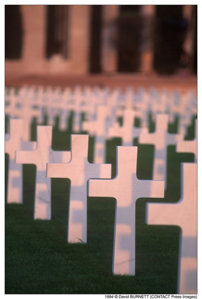 The U.S. cemetery on Omaha Beach in Normandy, France, on the 50th anniversary of D-Day, 1994. David Burnett/Contact Press Images