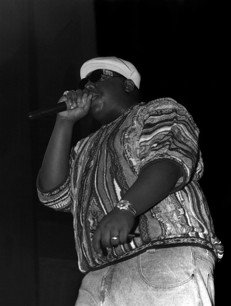 Notorious B.I.G., performs at the International Amphitheater in Chicago, 1995. Raymond Boyd/Michael Ochs Archives/Getty Images