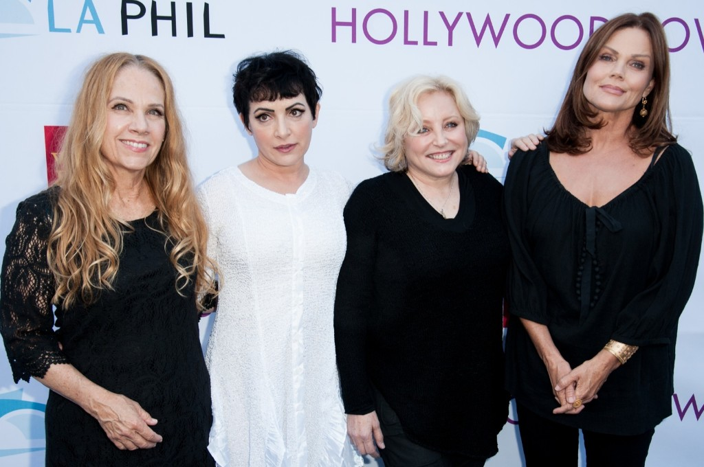 Charlotte Caffey, Jane Wiedlin, Gina Schock and Belinda Carlisle of the Go-Gos at the the Hollywood Bowl Hall of Fame. Richard Shotwell/Invision/AP