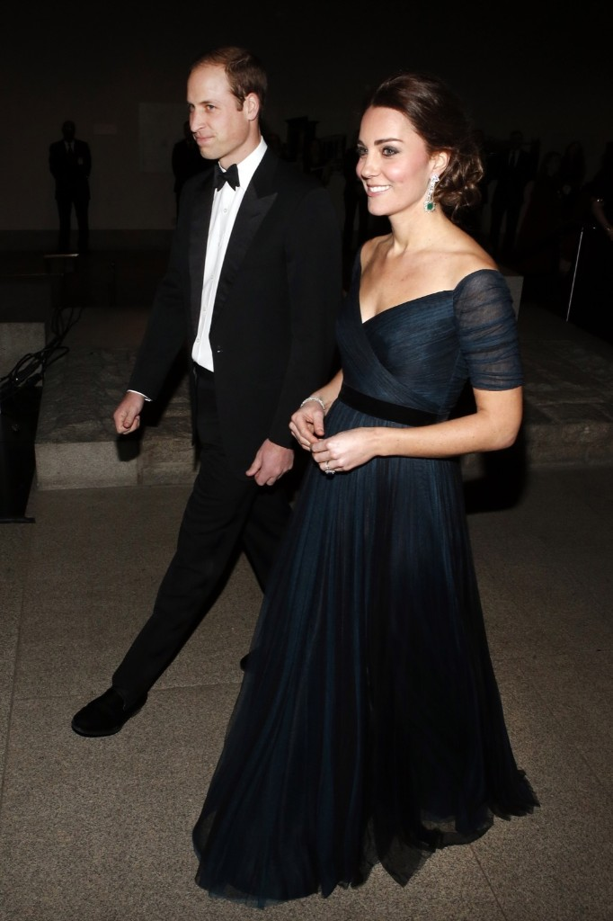 Britain's Prince William, the Duke of Cambridge, and Catherine, Duchess of Cambridge, attend the St. Andrews 600th Anniversary Dinner at the Metropolitan Museum of Art, Tuesday, in New York. AP Photo/Jason DeCrow-Pool