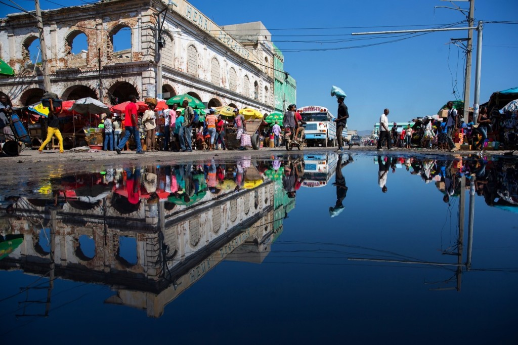 Desallines Street in Port-Au-Prince, Haiti. EPA/Orlando Barria