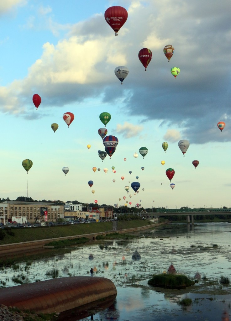 The Wind of Freedom event brings together 100 hot air balloons from across the globe to celebrate a century of Lithuanian independence. PETRAS MALUKAS/AFP/Getty Images