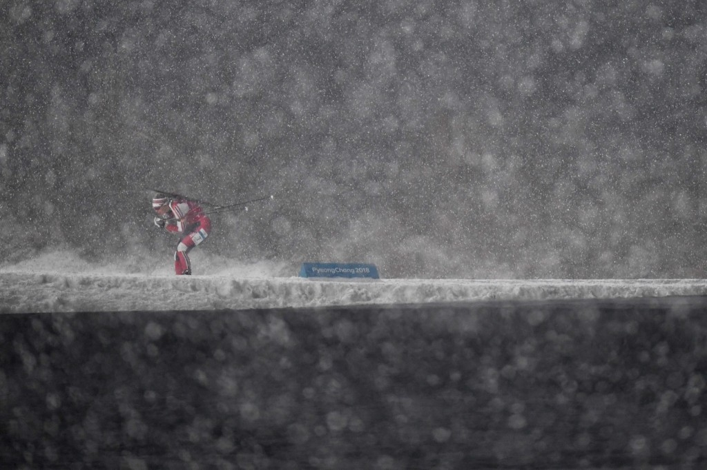 Norway's Synnoeve Solemdal competes in the women's 4x6km biathlon event. KIRILL KUDRYAVTSEV/AFP/Getty Images