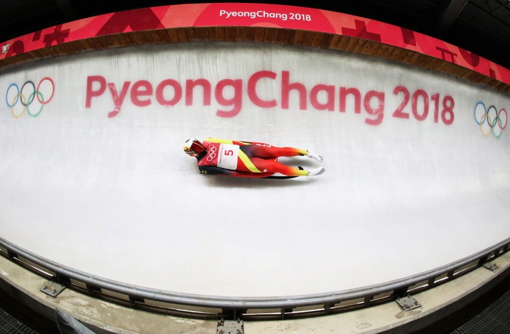 Felix Loch of Germany during the men's singles luge final. Sean M. Haffey/Getty Images