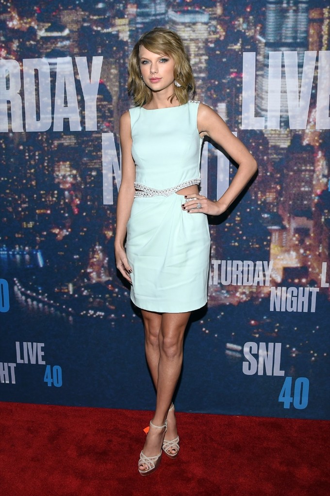 Taylor Swift attends the SNL 40th Anniversary Special, Sunday, in New York. Larry Busacca/Getty Images