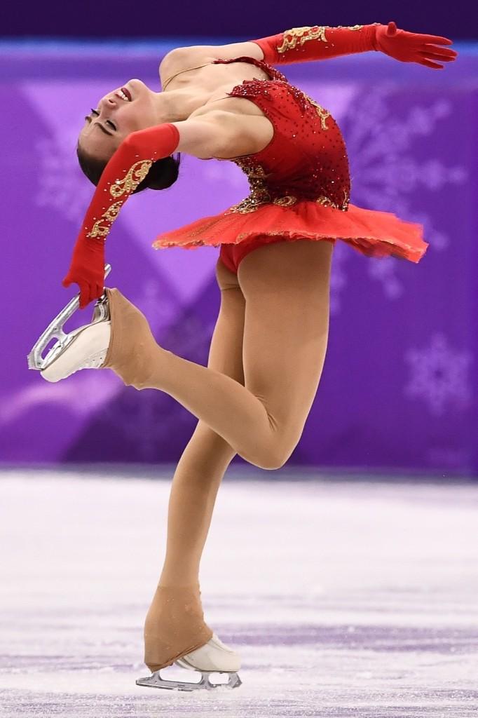 Russia's Alina Zagitova winning gold in women's figure skating. ARIS MESSINIS/AFP/Getty Images