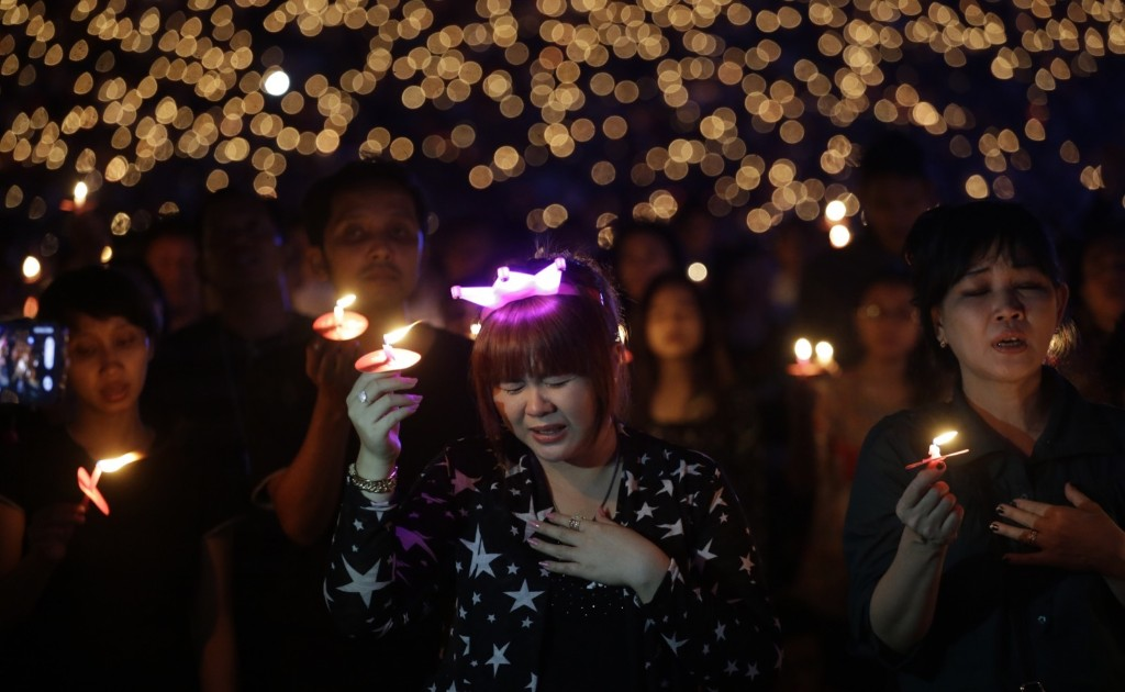 Worshippers take part in a Christmas service at Gelora Bung Karno Stadium in Jakarta. AP Photo/Achmad Ibrahim
