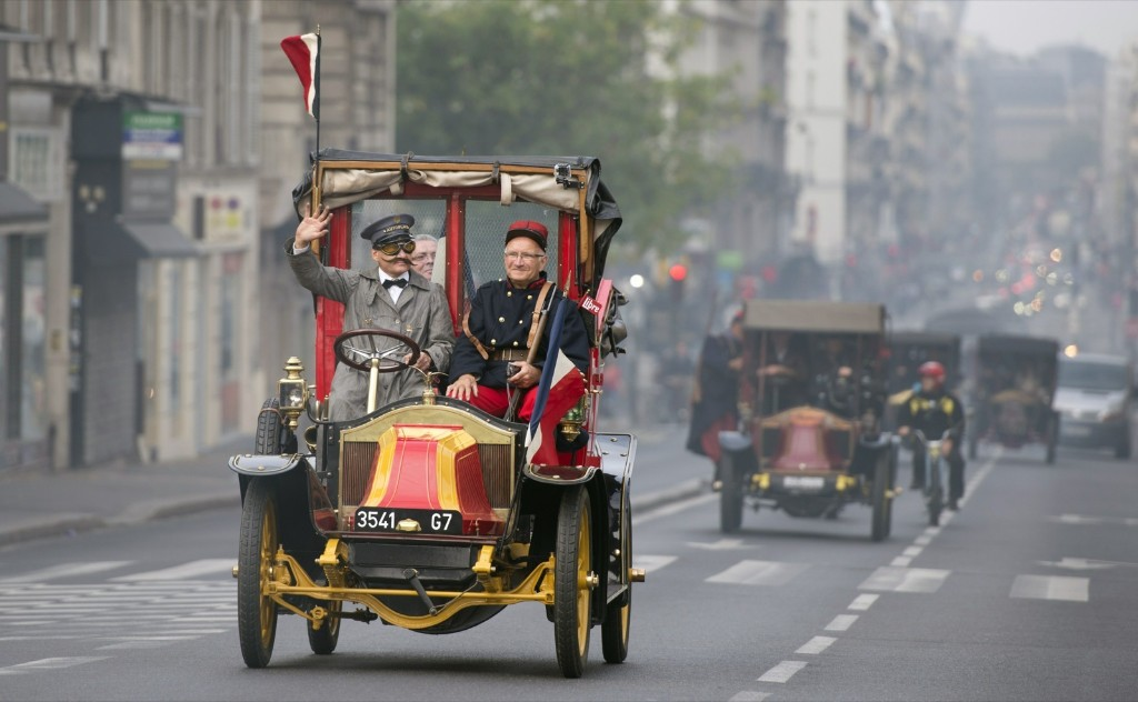 A parade commemorating the start of WWI in Paris. AFP PHOTO/ALAIN JOCARD