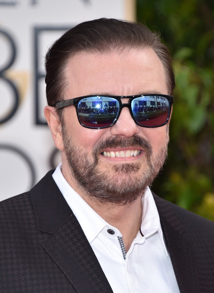 Host Ricky Gervais on the red carpet. John Shearer/Getty Images