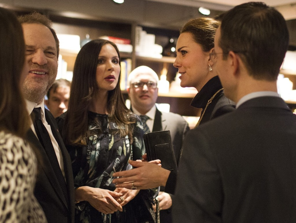 Catherine, Duchess of Cambridge at a Creativity is GREAT reception with film producer Harvey Weinstein and designer Georgina Chapman in New York, Tuesday. Christopher Wahl-Pool/Getty Images