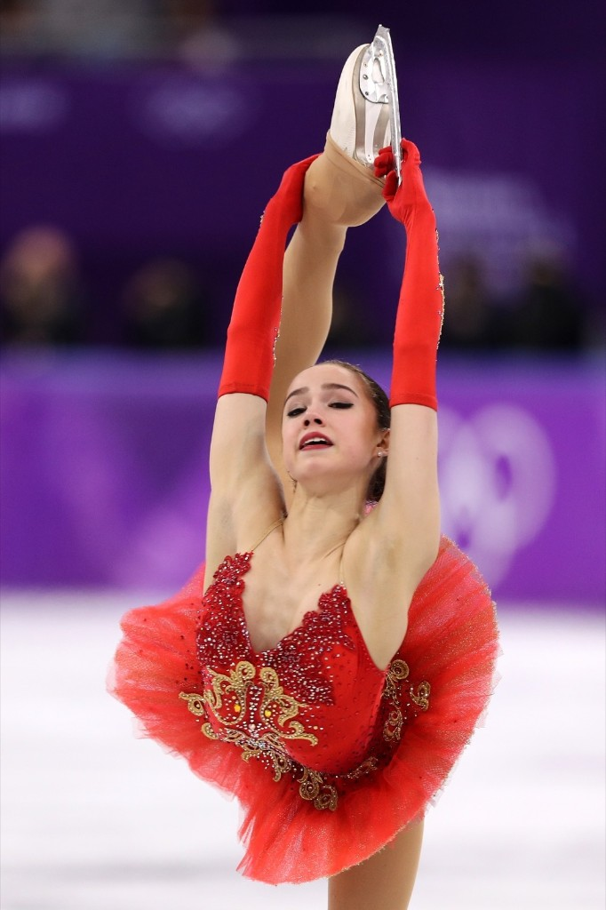 Alina Zagitova during her scintillating performance in the women's free skate. Maddie Meyer/Getty Images