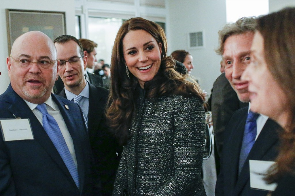Kate, the Duchess Of Cambridge with guests at a reception co-hosted by the Royal Foundation and the Clinton Foundation, Monday in New York. AP Photo/Eduardo Munoz Alvarez-Pool