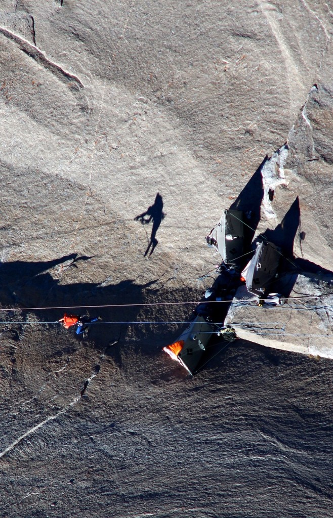 Tommy Caldwell ascends from base camp to pitch 17. AP Photo/Tom Evans/elcapreport