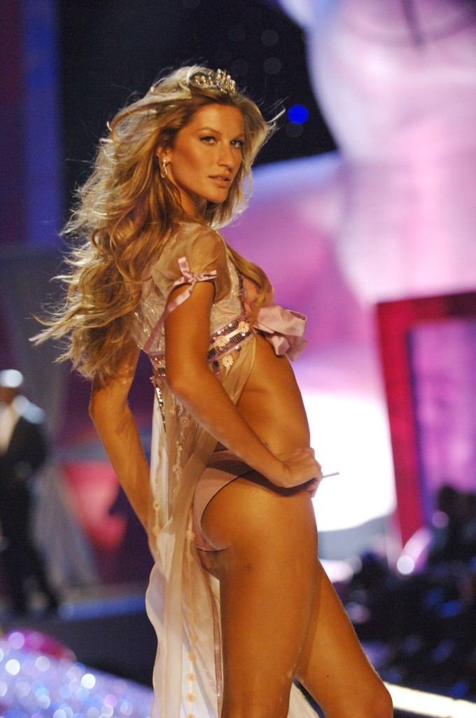 Gisele Bundchen during the 10th Annual Victoria's Secret Fashion Show, in New York City, November 9, 2005. Kevin Mazur/WireImage/Getty Images