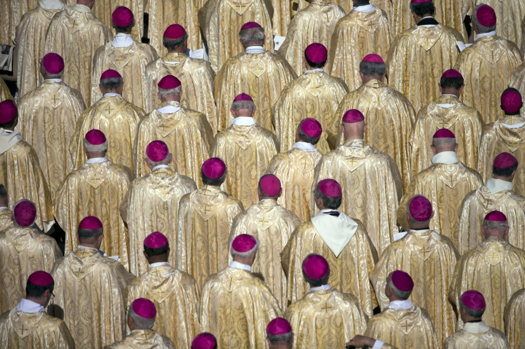 Bishops attend the beatification ceremony of Pope Paul VI in Saint Peter's Square. AP Photo/Andrew Medichini