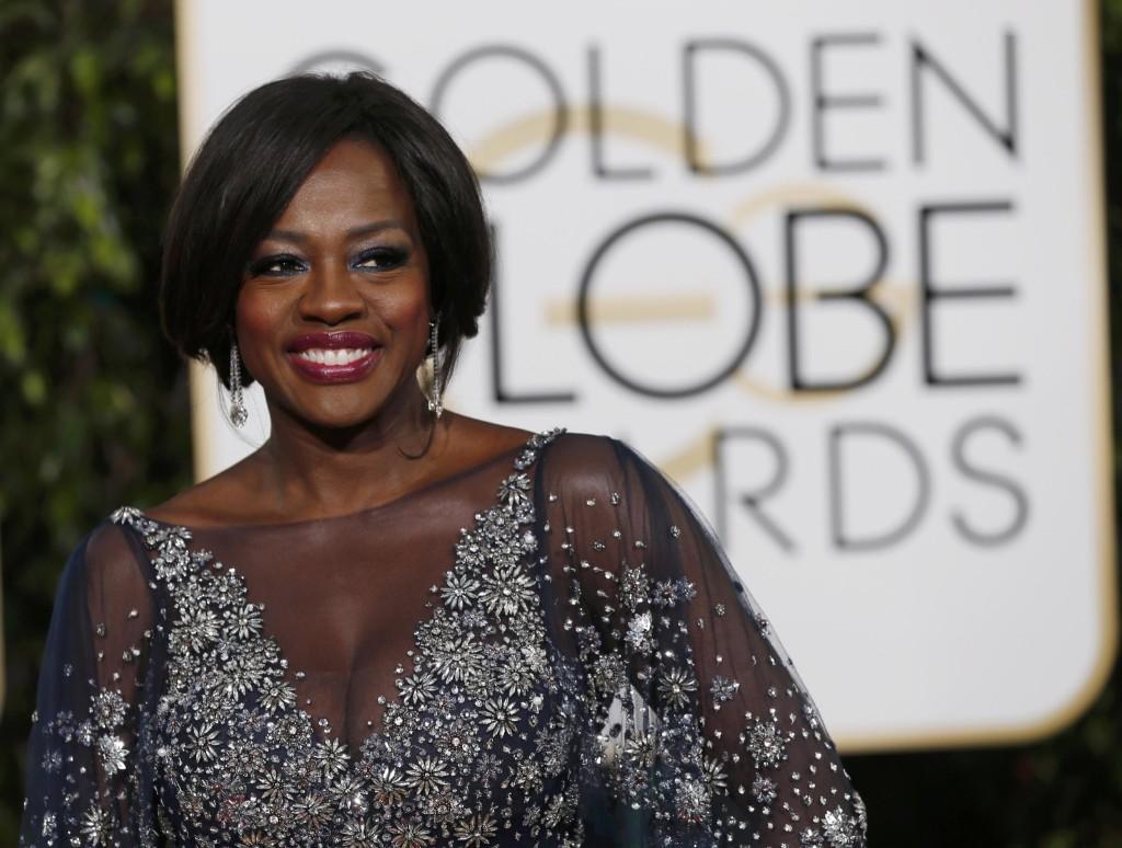 Viola Davis arrives at the 73rd Golden Globe Awards. REUTERS/Mario Anzuoni