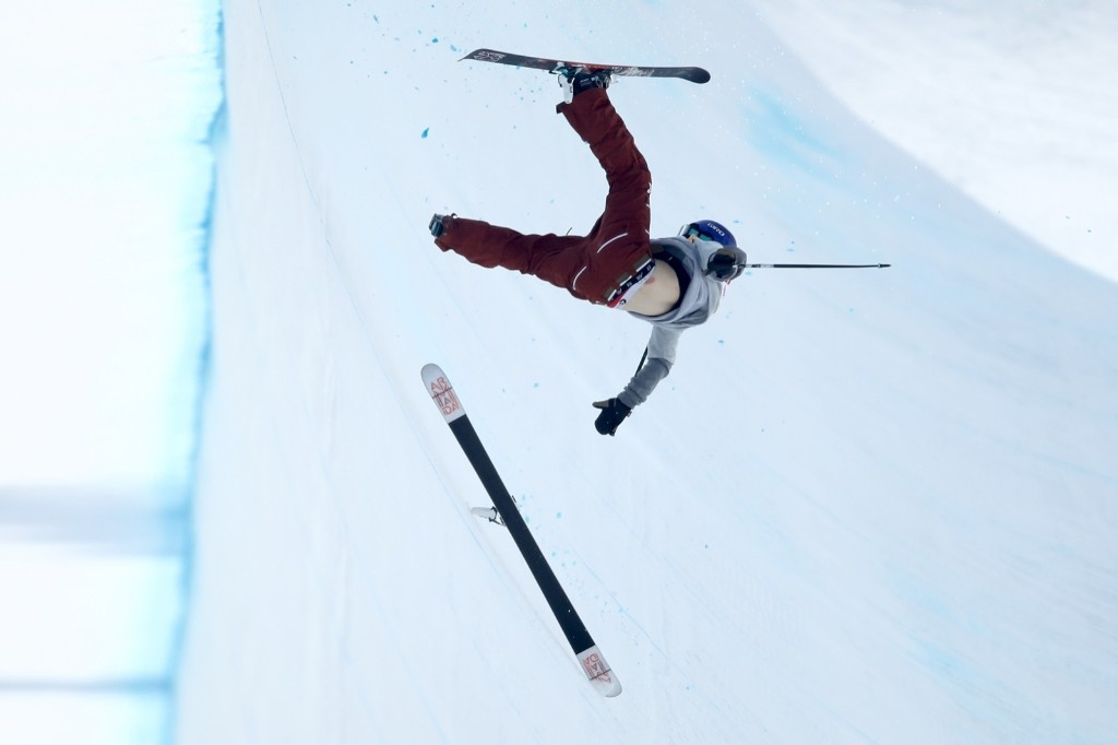 Torin Yater-Wallace of the U.S. crashes during the men's ski halfpipe. Cameron Spencer/Getty Images