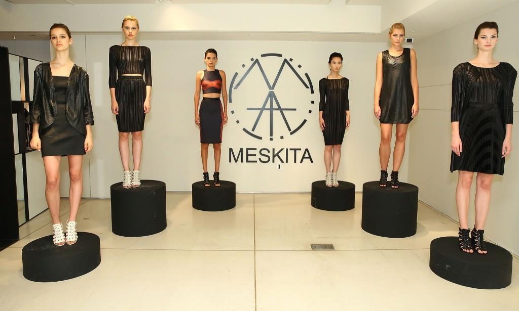 Models pose during Meskita - Presentation - Spring 2016 during New York Fashion Week. Astrid Stawiarz/Getty Images