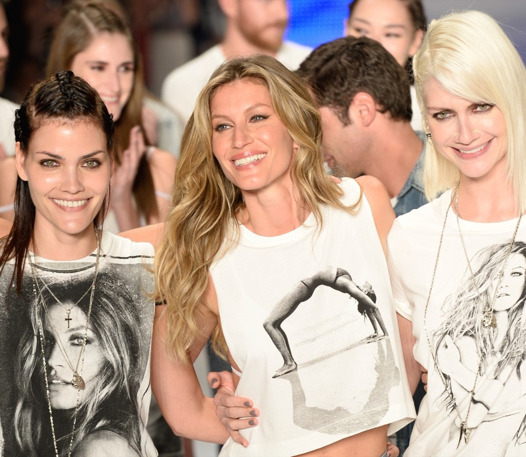 Gisele Bundchen at the end of the Colcci fashion show, Wednesday in Sao Paulo. Fernanda Calfat/Getty Images