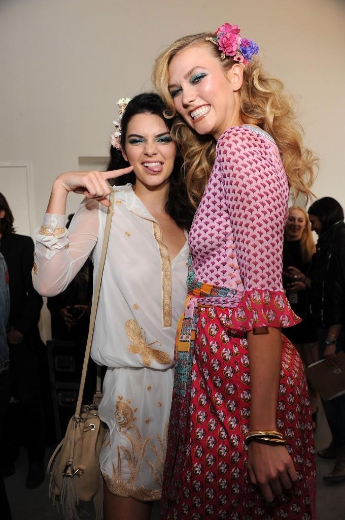 Kendall Jenner and Karlie Kloss backstage. Desiree Navarro/WireImage