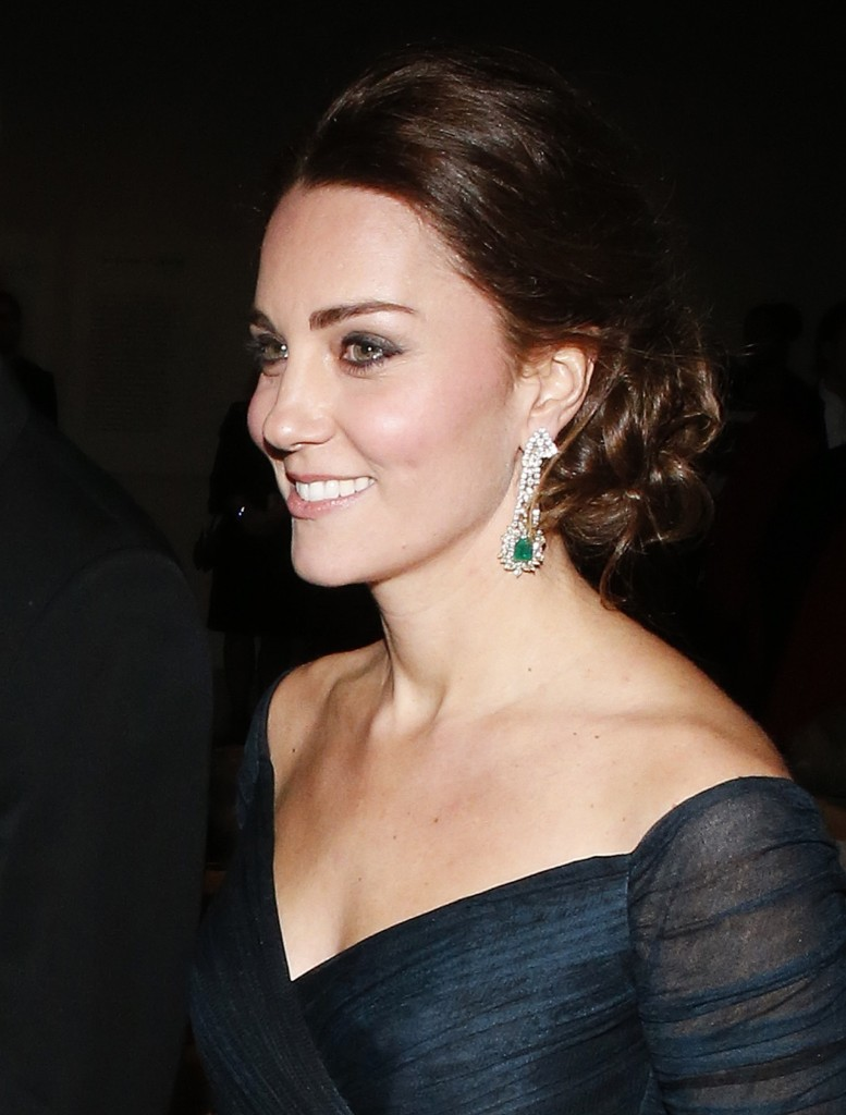 Catherine, Duchess of Cambridge, attends the St. Andrews 600th Anniversary Dinner at the Metropolitan Museum of Art, Tuesday, in New York. AP Photo/Jason DeCrow-Pool