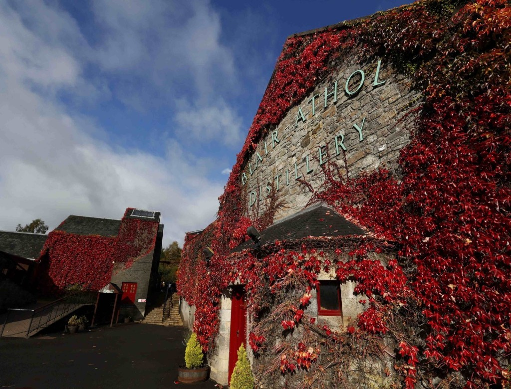 The Blair Athol Distillery is covered in autumn foliage in Pitlochry, Scotland. REUTERS/Russell Cheyne
