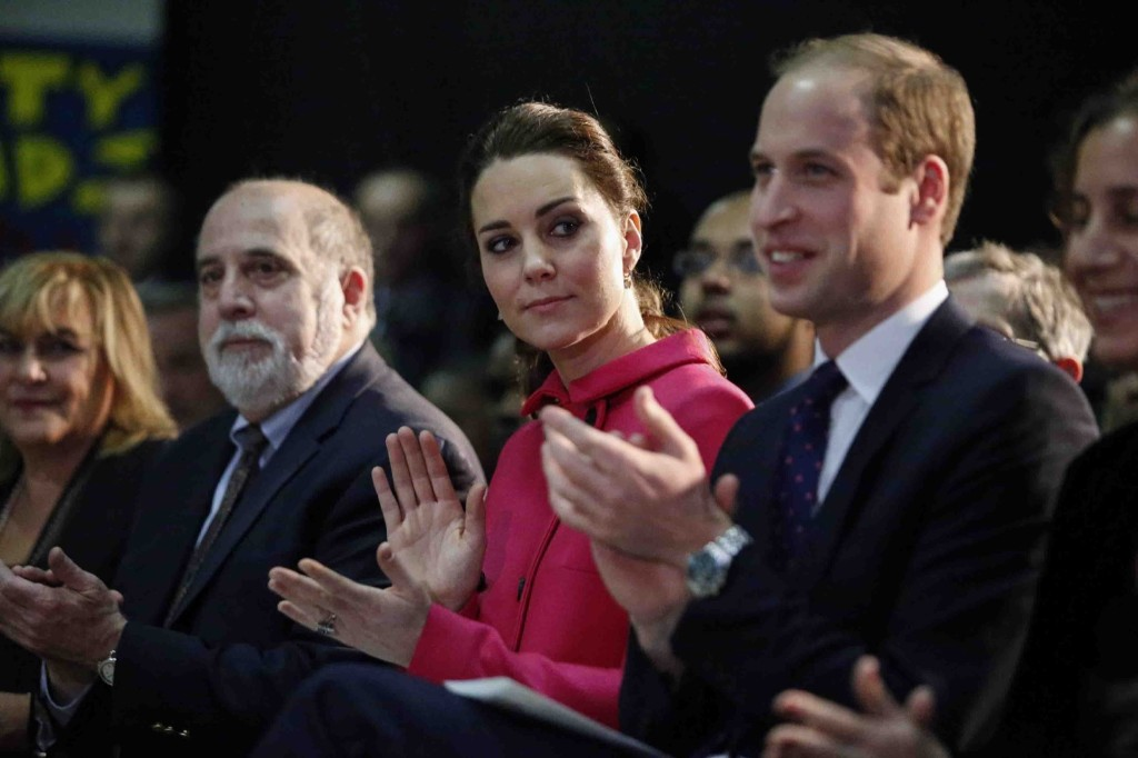 "Prince William, Duke of Cambridge and Catherine, the Duchess of Cambridge attend a show presented by the organization ""The Door"" and the City Kids Foundation in New York, Tuesday. Kena Betancur-Pool/Getty Images"