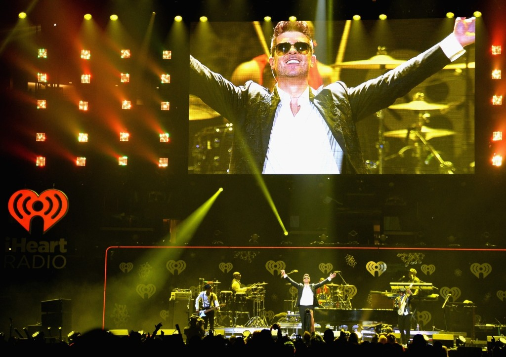 Robin Thicke performs during KIIS FM's Jingle Ball 2013 in Los Angeles. Jason Merritt/Getty Images for Clear Channel