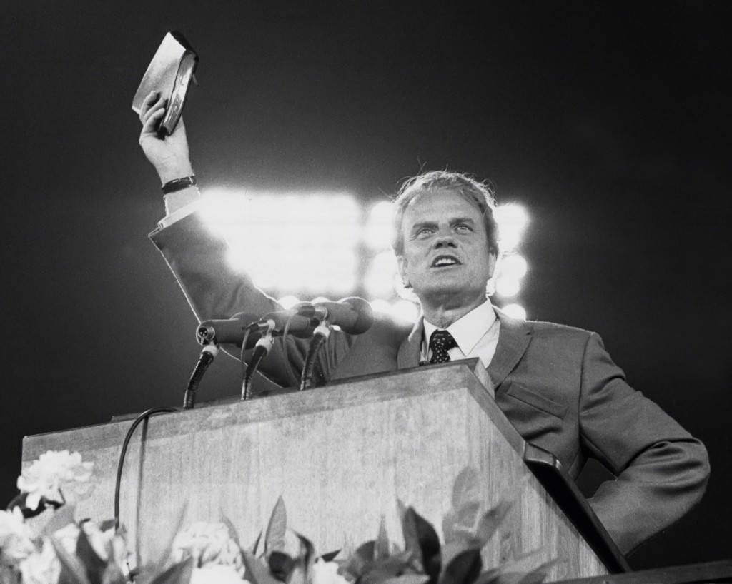 Billy Graham in 1970. PL Gould/IMAGES/Getty Images