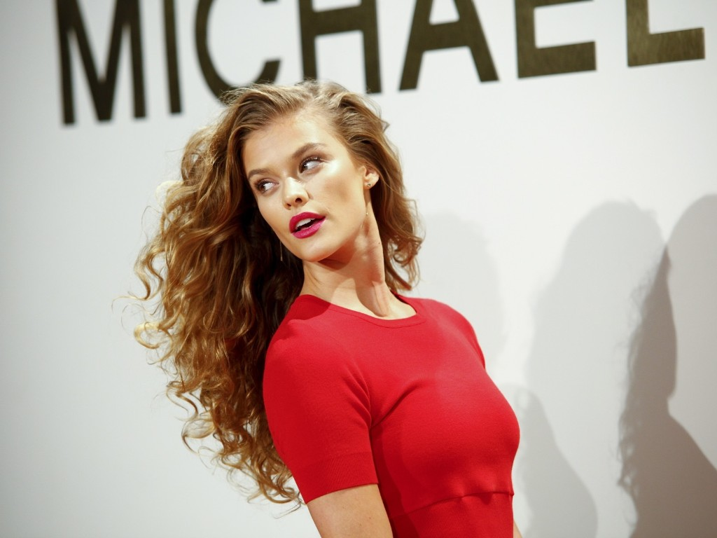Nina Agdal attends the New York Fashion Week Spring/Summer 2016 Michael Kors Gold Collection Fragrance Launch at The Top of the Standard. Andy Kropa/Invision/AP