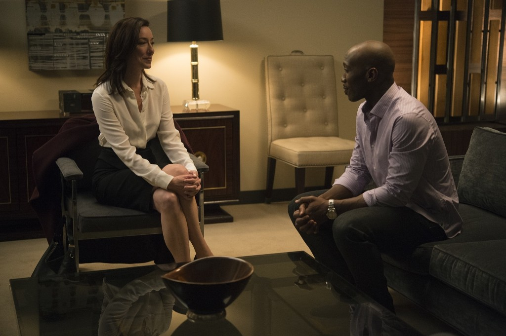 Molly Parker and Mahershala Ali in House of Cards, Season 3. David Giesbrecht/Netflix