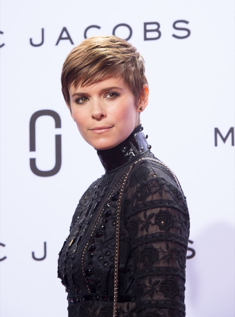 Kate Mara appears on the red carpet prior to the Marc Jacobs Spring 2016 collection show. AP Photo/Bryan R. Smith