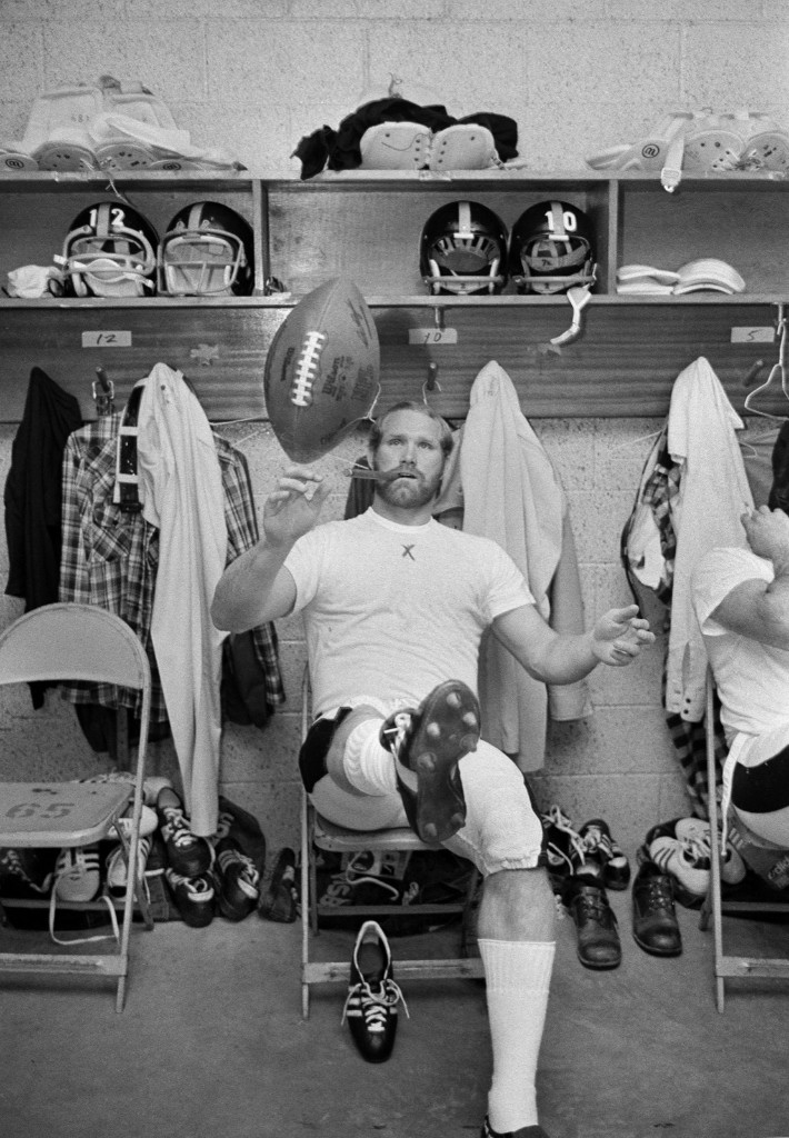 Steelers quarterback Terry Bradshaw in the locker room before Super Bowl IX in New Orleans, Jan. 1975. Bradshaw would lead the Steelers to a 16-6 win over the Vikings. AP Photo