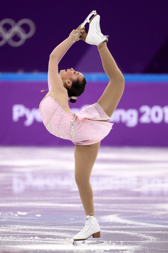 Aimee Buchanan of Israel during the women's short program in the team event. Jamie Squire/Getty Images