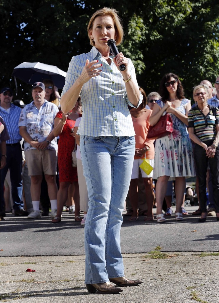 Carly Fiorina at the Seacoast Republican Women's chili festival in Stratham, N.H. AP Photo/Jim Cole