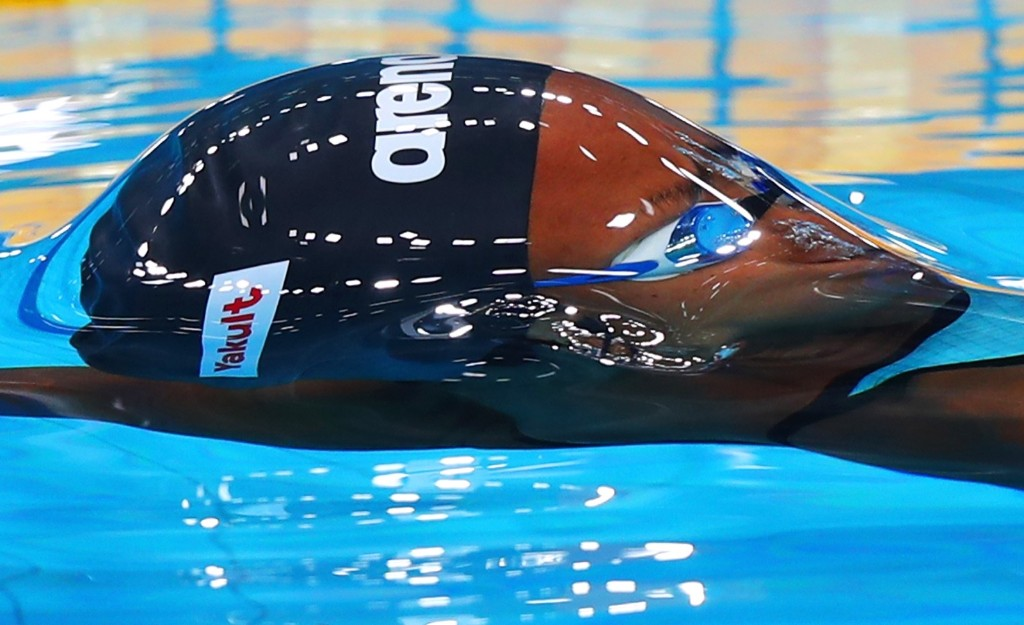 Elodie Marion Razafy of Madagascar during the women's 100m backstroke. Clive Rose/Getty Images