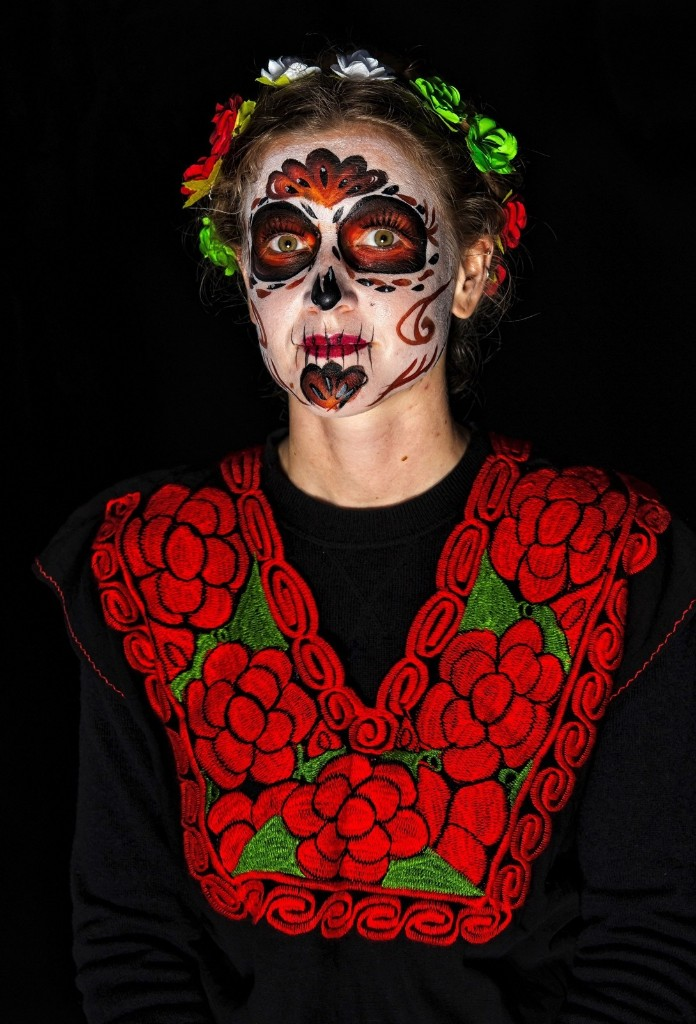 Anna Miller before the March of Catrinas organized by the Body Paint group in Mexico City. OMAR TORRES/AFP/Getty Images