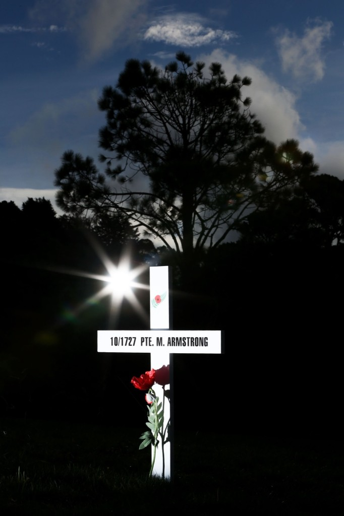 The Field of Remembrance at Wellington Botanic Gardens to commemorate 100 years since Australian and New Zealand servicemen landed at the Gallipoli Peninsula during WW1. Hagen Hopkins/Getty Images