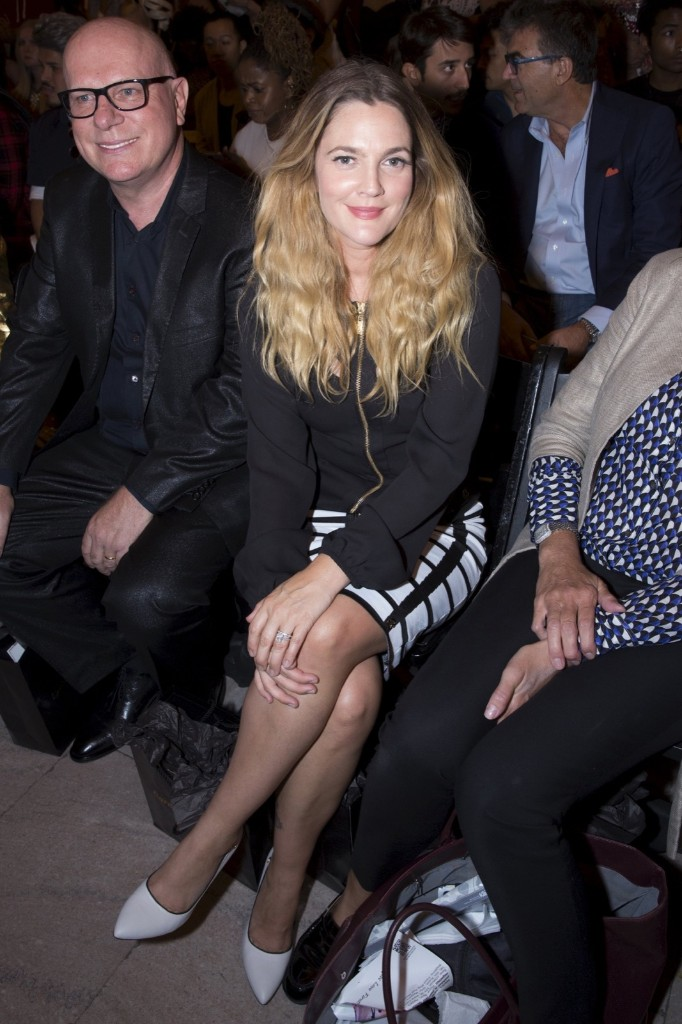 Drew Barrymore attends the FTL Moda presentation. REUTERS/Andrew Kelly