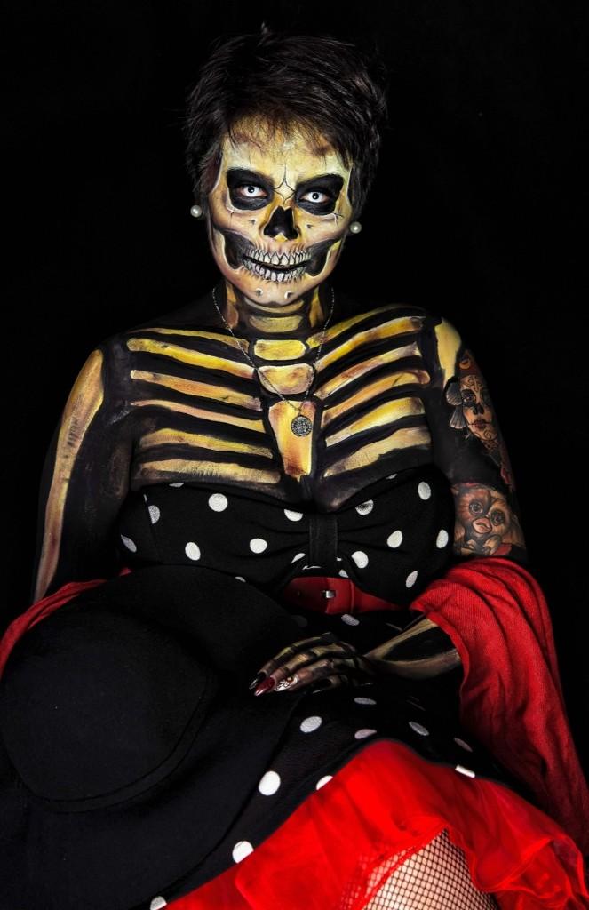Gabriela Sanchez dressed as Catrina. OMAR TORRES/AFP/Getty Images
