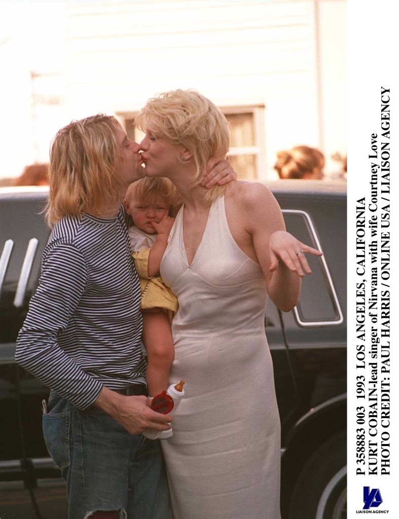 Witih Courtney Love, 1993, Los Angeles. Paul Harris/Getty Images