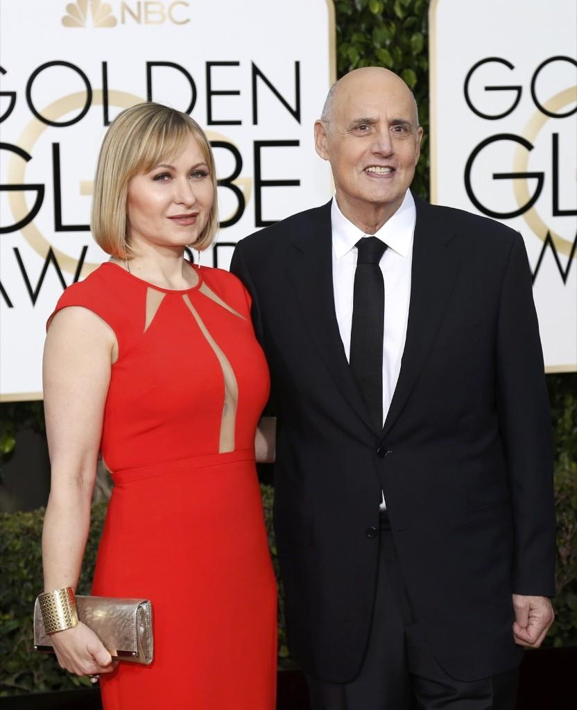 Jeffrey Tambor and his wife Kasia arrive. REUTERS/Mario Anzuoni