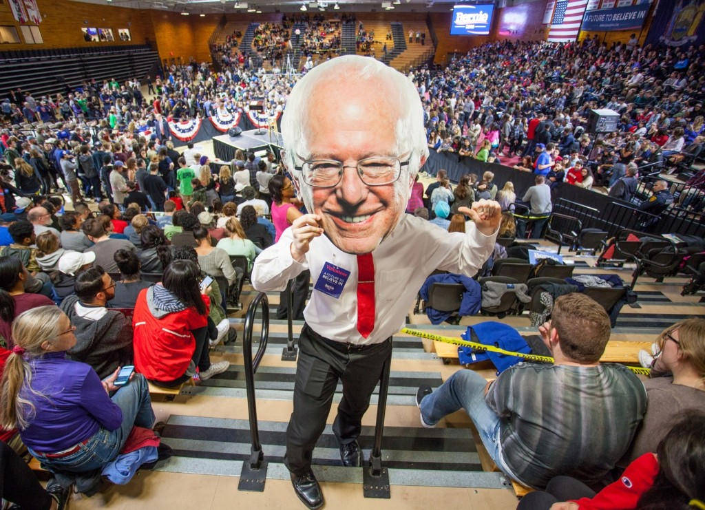 A view of atmosphere at the Bernie Sanders rally at Marist College in Poughkeepsie, N.Y. Kenneth Gabrielsen/Getty Images