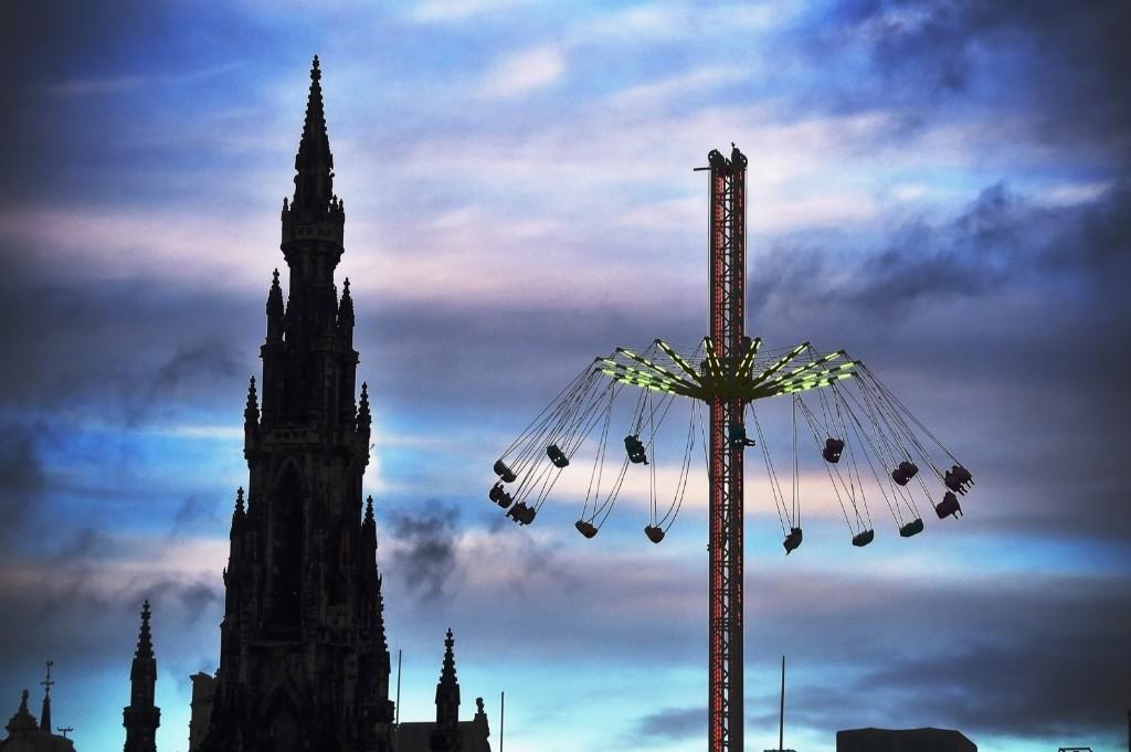 The 'star flyer' in Edinburgh. Jeff J Mitchell/Getty Images
