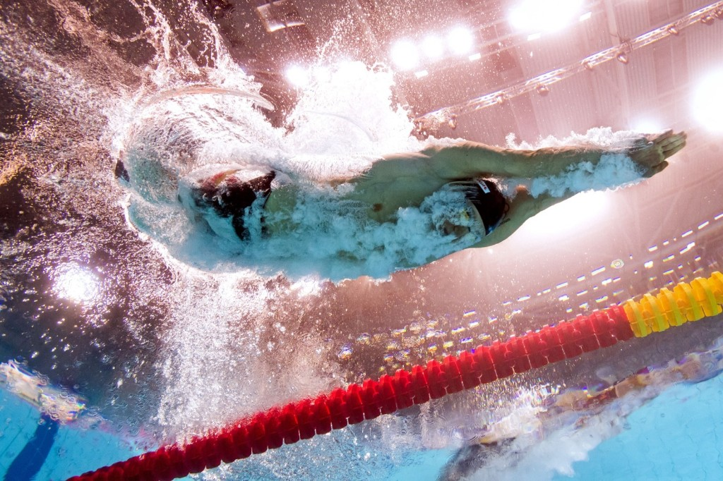 Great Britain's Adam Peaty in a men's 100m breaststroke heat. FRANCOIS-XAVIER MARIT/AFP/Getty Images