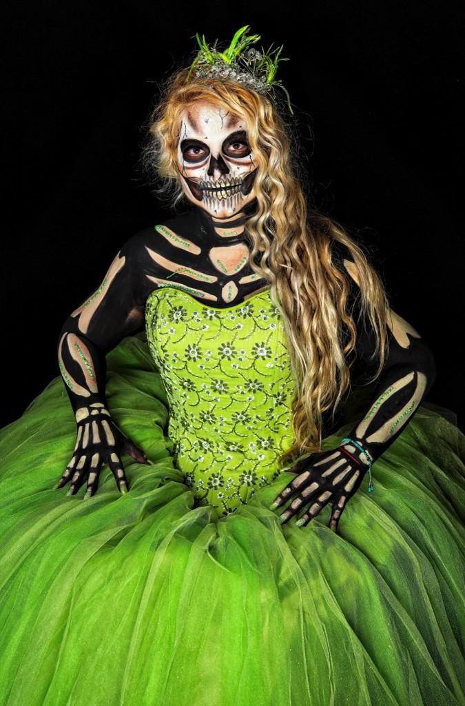 Ingrid Lopez Garcia as Catrina. OMAR TORRES/AFP/Getty Images